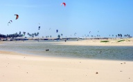Downwind kite safari Brazil